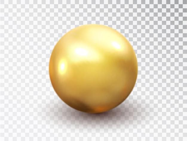 Złota kula na białym tle