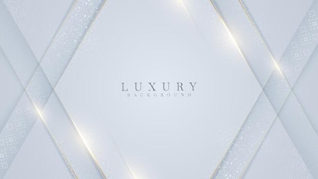 Złota linia na białym tle. koncepcja realistyczna luksusu. 3d styl cięcia papieru. ilustracja wektorowa do projektowania.