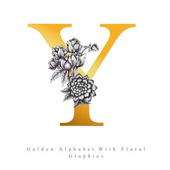 Złota litera alfabetu