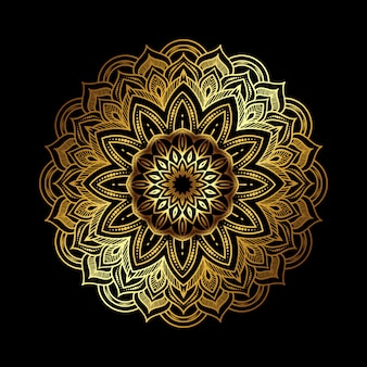 Złota luksusowa mandala