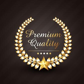 Złota nagroda ilustracja premium