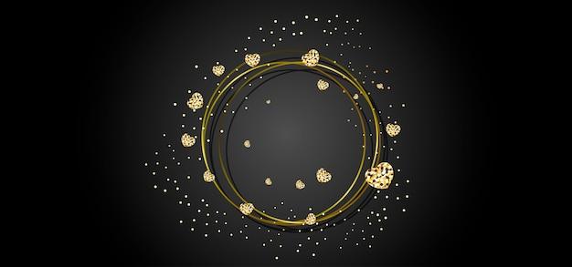 Złota okrągła rama