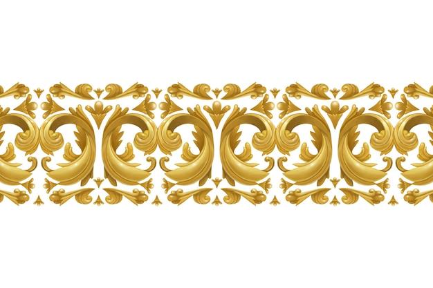Złota ozdobna granica