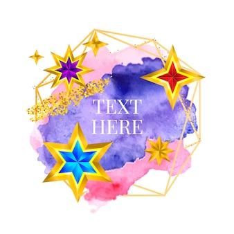 Złota rama farba ręcznie malowana wektorem pociągnięcia pędzlem idealny projekt dla nagłówka logo i baneru wyprzeda...