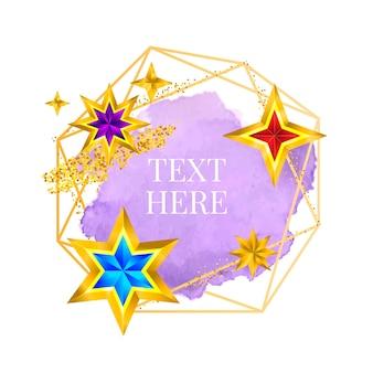Złota rama farba ręcznie malowane wektor pociągnięcia pędzlem. idealny projekt nagłówka, logo i banera wyprzedaży. akwarela.
