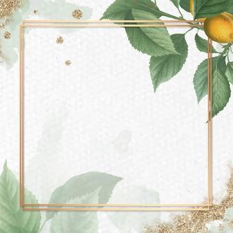 Złota rama na wektorze tła moreli briançon
