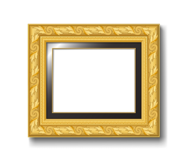 Złota rama starodawny obraz