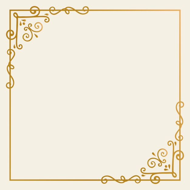 Złota rama tło