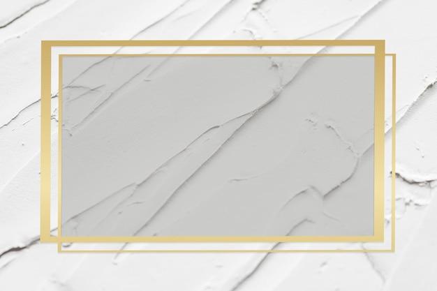 Złota rama wektor na białym tle z teksturą