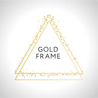 Złota rama wystrój na białym tle błyszczący złoty metalik gradientu granicy