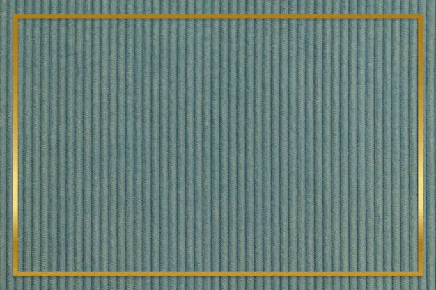 Złota ramka na zielonym sztruksowym tle z teksturą