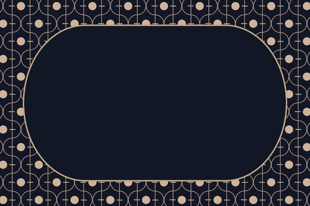 Złota ramka w stylu art deco na ciemnym tle