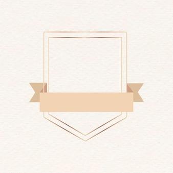 Złota ramka z brązową wstążką