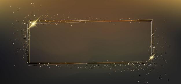 Złota ramka z efektami świetlnymi