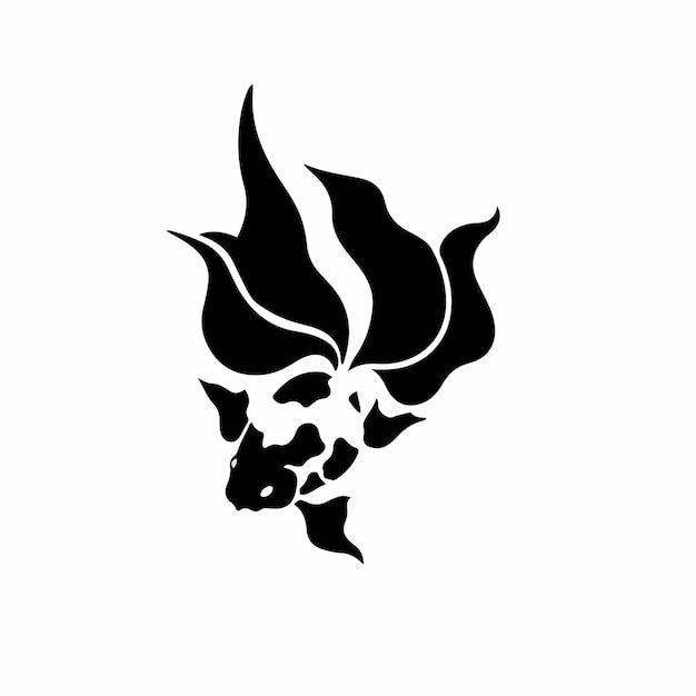 Złota rybka symbol logo ilustracja wektorowa