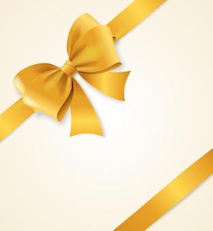 Złota satynowa wstążka. element projektu luksusowych. ilustracja