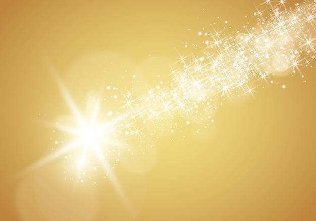 Złota spadająca gwiazda