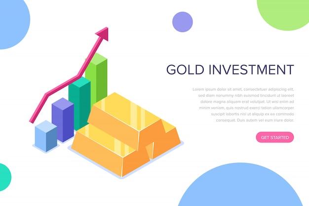 Złota strona docelowa inwestycji