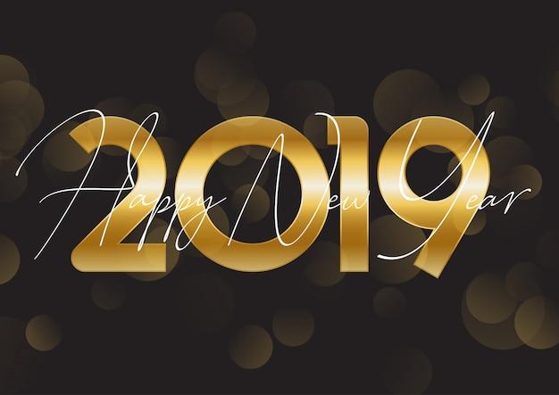 Złota szczęśliwego nowego roku tła