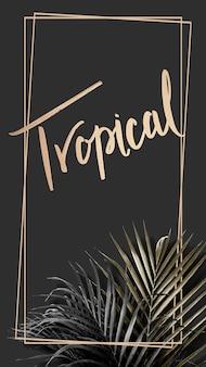 Złota tropikalna rama