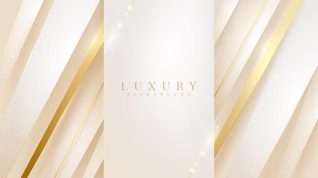 Złota ukośna linia luksusowe tło, nowoczesny projekt okładki. koncepcja szablonu karty zaproszenie. ilustracja wektorowa.