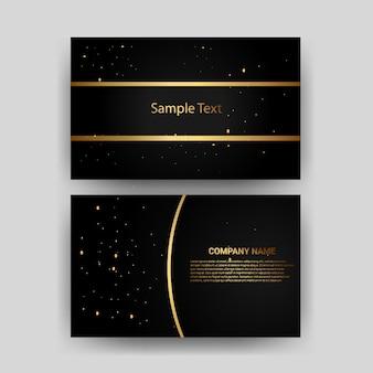 Złota wizytówka z kreatywnym elementem szablonu projektu karty