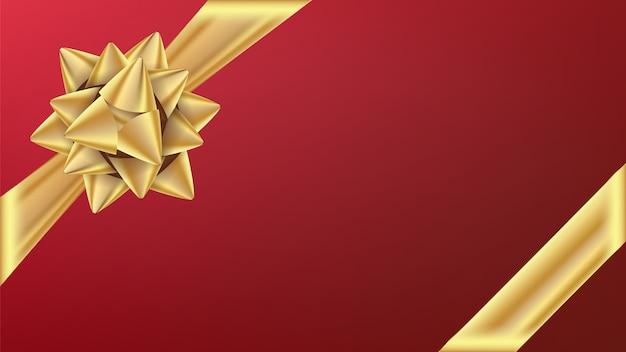 Złota wstążka gifr z kokardą