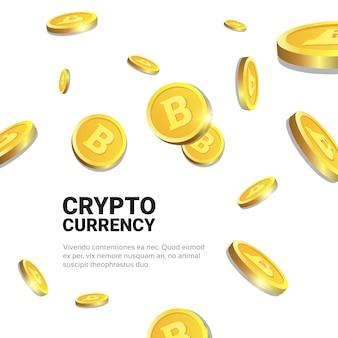 Złote bitcoins na białym tle