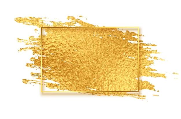 Złote błyszczące tło tekstury obrysu pędzla