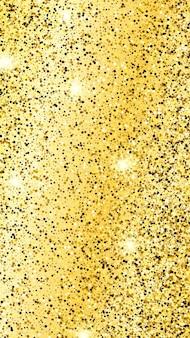 Złote błyszczące tło ze złotymi iskierkami i efektem brokatu. projekt banera opowieści. puste miejsce na twój tekst. ilustracja wektorowa