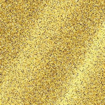 Złote błyszczące tło ze złotymi iskierkami i efektem brokatu. puste miejsce na twój tekst. ilustracja wektorowa