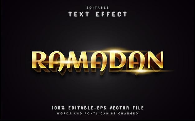 Złote efekty tekstowe ramadan