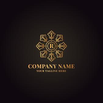 Złote eleganckie logo
