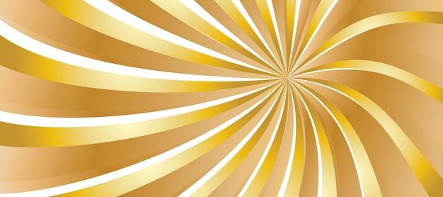 Złote faliste i groovy tło