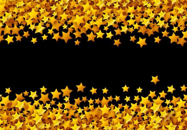 Złote gwiazdy błyszczą na czarnych kartach uroczystości