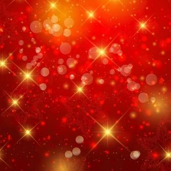 Złote i czerwone bokeh
