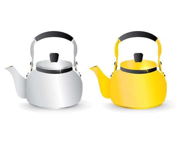 Złote i srebrne czajniki