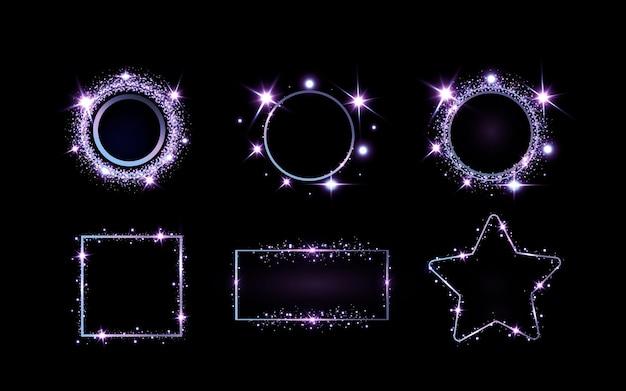 Złote iskry i złote gwiazdy mienią się specjalnym efektem świetlnym