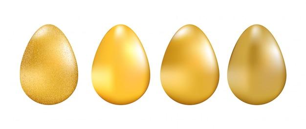 Złote jaja kolekcja wektor illsustration.