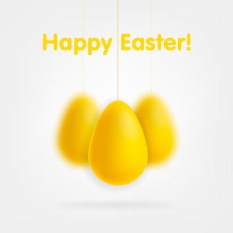 Złote jajka na białym tle na białym tle vector