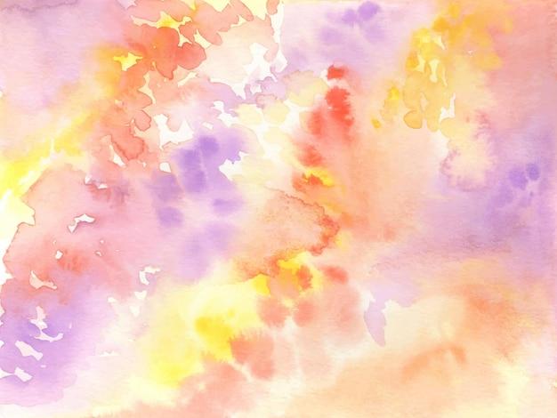 Złote jesienne niebo akwarela tekstury tła