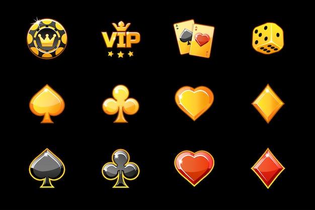 Złote kasyno, symbole gry w pokera