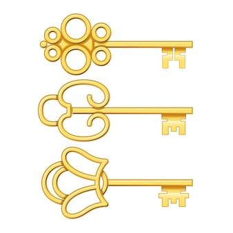 Złote klucze ustawione