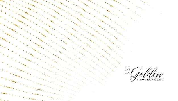 Złote kółko kropki wzór linii luksusowe białe tło
