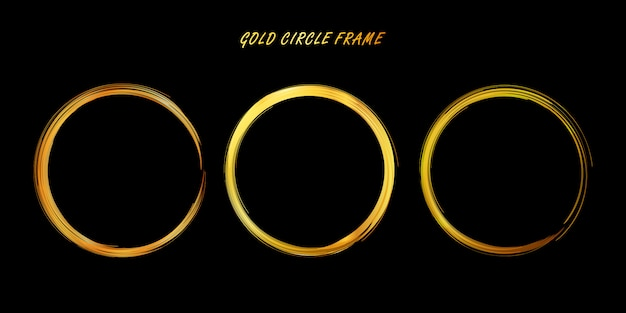 Złote koło, ręcznie rysowane złote koło