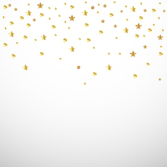Złote konfetti serce i gwiazda