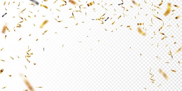 Złote konfetti