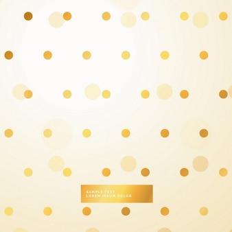 Złote kropki piękne tło