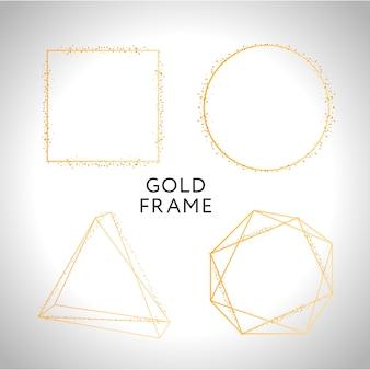 Złote kształty ramki