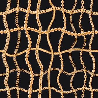 Złote łańcuchy luksusowy wzór